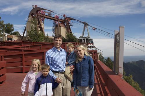 Family by Sandia Peak Tramway