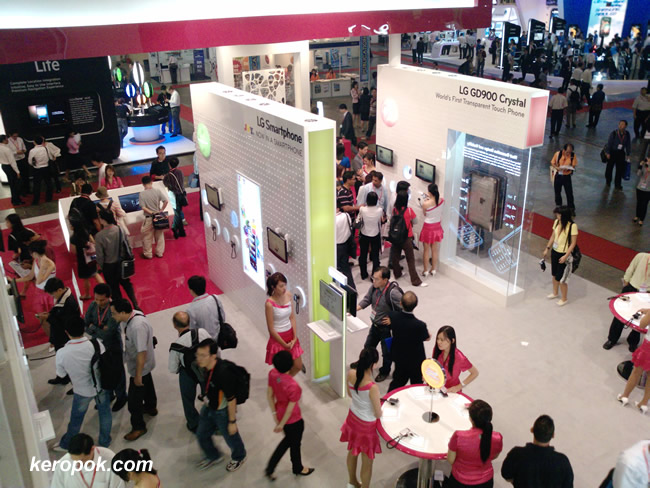LG Booth @ CommunicAsia