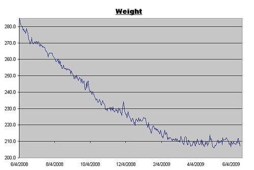Weight log for June 19, 2009