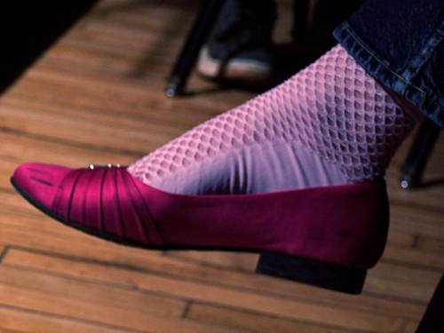 Pink Silk Flats -- 100_9777