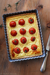 Tomato ricotta tart (StuderV) Tags: food tomato french italian nikon dish rustic tasty vegetable meal eggs spicy ricotta quiche foodphotography paradicsom d80 foodstyling