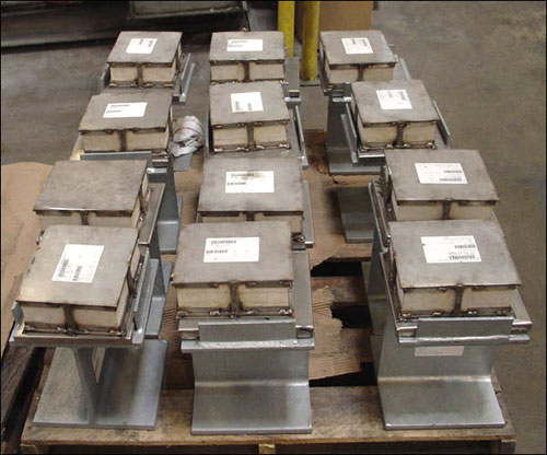 Slide Plate Assemblies with Marinite® Insulation and Vibration Pads