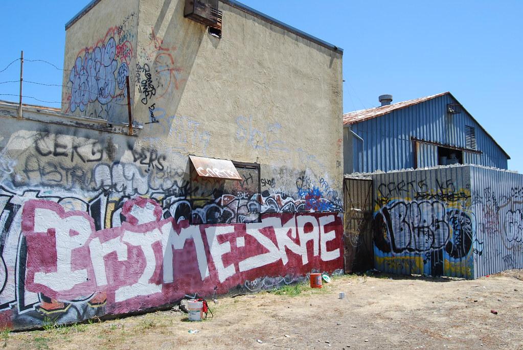 Prime, Skae Graffiti Rollers in East Oakland, CA.