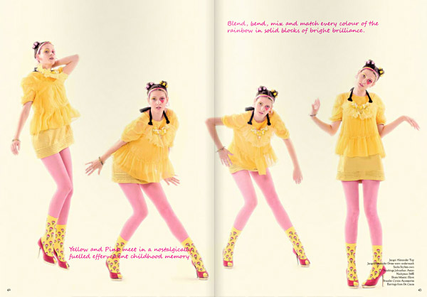 Hight Fashion, Colour Blocking, Yellow. Le Magazine Issue 3, All The Colours Of The Rainbow