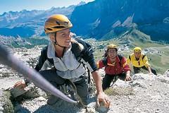 Zajištěné cesty a horolezectví v Dolomitech