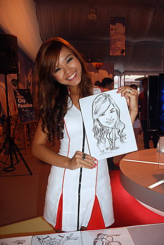 caricature live sketching for LG Infinia Roadshow - day 1 - 16
