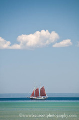 the Inland Seas ... schoolship (Ken Scott) Tags: usa michigan lakemichigan greatlakes tallship schooner freshwater leelanau sailboad schoolship inlandseas kenscottphotography kenscottphotographycom