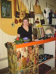 Owner, Marjolaine, Artsy et Vintage - Moncton, New Brunswick (spin off stuff) Tags: new brunswick moncton clothingshop artsyetvintage