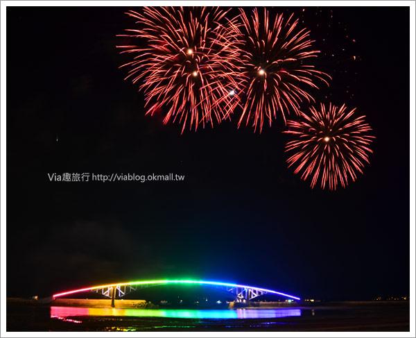 【澎湖花火節】2011澎湖海上花火節,浪漫的夏日海上煙花實況!8