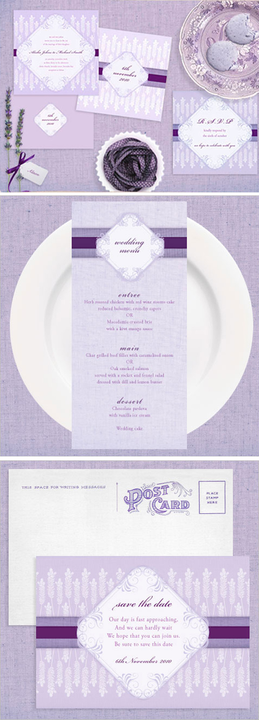 lavender and linen range