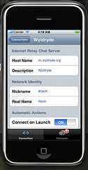 Mobile Colloquy Connection Settings 1
