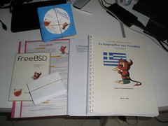 Handbook, Flyer, DVDs... (sonic2000gr) Tags: freebsd releaseparty 71release