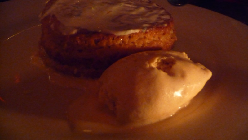 Tres Leches Cake with Homemade Caramel Ice Cream at Hecho en Dumbo