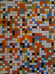 New kitchen tiles (pjbaldes) Tags: glass tile back lego mosaic pixels cellphonecamera backsplash notinstalledyet thefrontsaresmooth