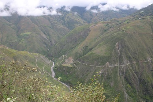 Spectacular scenery near El Tablón, Colombia.