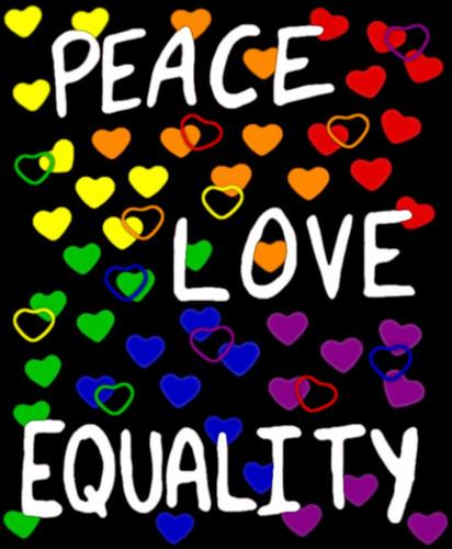 rainbow love heart background. Rainbow Hearts