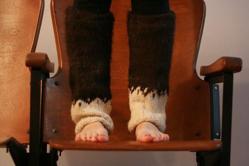 recycled alpaca legwarmers
