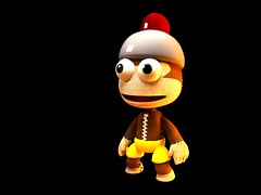 LittleBigPlanet - Ape Escape Costume render