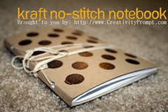 Kraft no stitch notebook