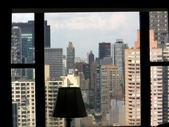 View From My Manhattan Apartment - Just Kidding (traveling peter) Tags: nyc newyorkcity blue sky usa ny newyork black building tower window glass lamp skyline clouds skyscraper concrete hotel view manhattan framed august bluesky midtown frame helmsley condos 2008 apartmentblock tallbuilding 555v5f atthehotel newyorkhelmsley year2008 abovethefruitedplain