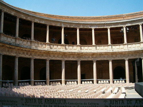 Palacio de Carlos V / Palace of Charles V, Alhambra, Granada - a photo on Fli...