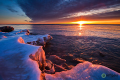Icy North Point Sunrise (RJIPhotography) Tags: lake snow ice wisconsin sunrise searchthebest lakemichigan milwaukee northpoint newvision vosplusbellesphotos canon5dii flickrclassique photocontesttnc10 peregrino27newvision