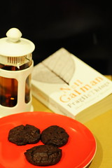 Nothing Says Home Like Mis-shapen Chocolate Cookies, A Cafetière of Earl Grey and a Neil Gaiman