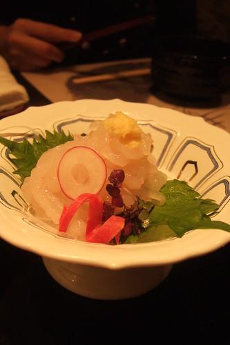 Shiro ebi no sashimi