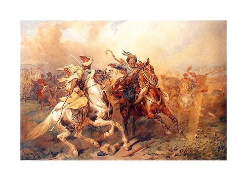 022- Danza Tartara a caballo 1885-Juliusz Kossak