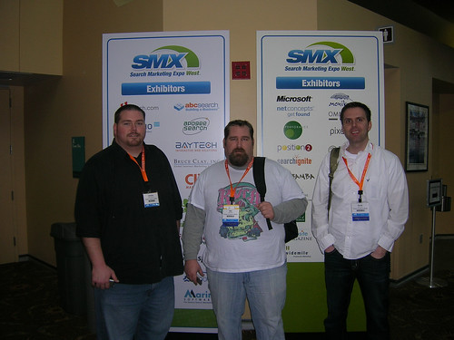 Andrew Melchior, Mat Siltala, and David Mink at SMX West 2009.