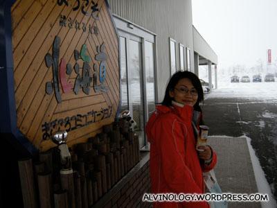 At the car rental centre