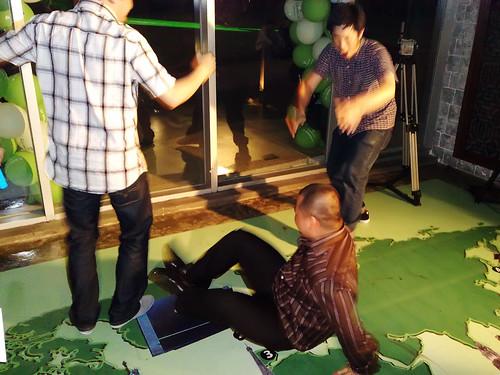 Kenny breakdancing.
