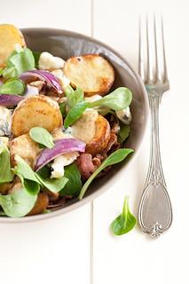 Warm crispy potatoe salad 1/3