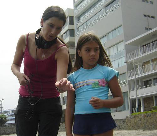 Rosario García-Montero ensayando