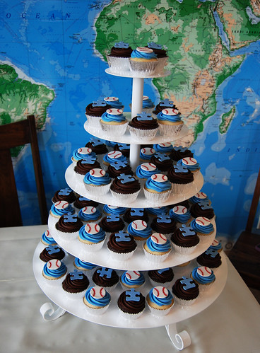Baseball Wives Autism Speaks charity event cupcake tower
