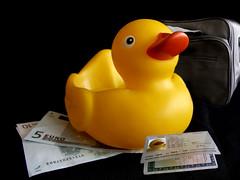 Getting Ready for a Holiday (Tony Shertila) Tags: vacation holiday money paris duck ducky ready passport euros blueribbonwinner anawesomeshot proudshopper theperfectphotographer goldstaraward