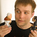 Tom Goss doesn't know what to make of the pooping obama and pope dolls
