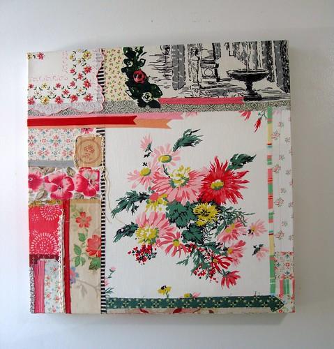vintage fabric art