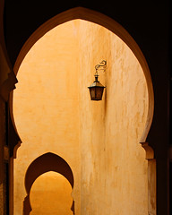 arches, walls and lamp (Z Eduardo...) Tags: africa colors wall architecture unesco morocco maroc soe meknes arche mausoleumofmoulayismail superaplus aplusphoto goldstaraward