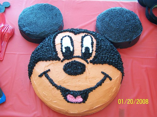 Excellent Mickey Mouse 1St Birthday Cake A Photo On Flickriver Personalised Birthday Cards Bromeletsinfo