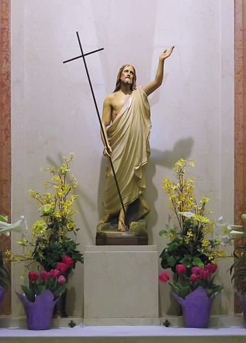 Statue of the Resurrected Christ, at Saint Gabriel the Archangel Church, in Saint Louis, Missouri, USA