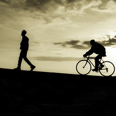 (Maria Artigas) Tags: sepia playa bici lightroom vilanovailageltr mria abigfave lapasifae