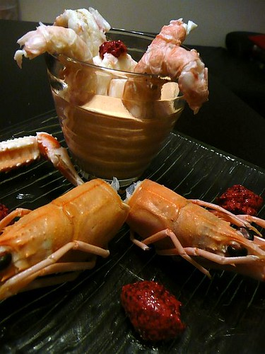 cocktail di scampi con mostarda 3