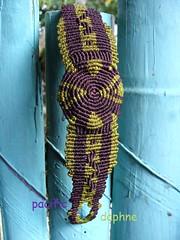 Espiral de Macrame (pacificdaphne) Tags: handmade hilo espiral macrame pulsera makrame artesania hechoamano macram encerado