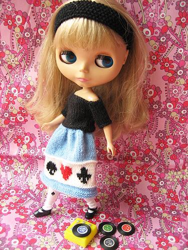 50's full skirt & black sweater