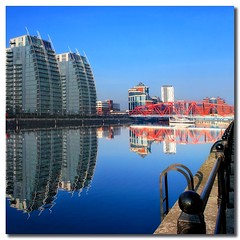 NV Buildings (i.rashid007) Tags: uk england reflections manchester salfordquays salford nvbuilding vertorama