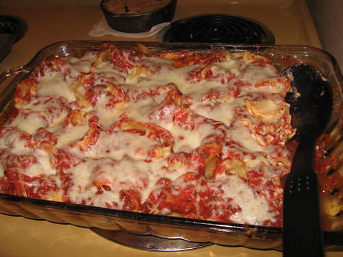 Finished Stuffed Shells