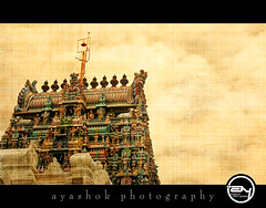 Tower from Chettinadu (ayashok photography) Tags: india tower colors temple nikon textures hindu tamilnadu karaikudi nikonstunninggallery nikond40 chettinadu ayashok nikor55200mm pillyarpatti