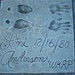 Loni Anderson's footprints at the defunct Movieland Wax Museum in Buena Park