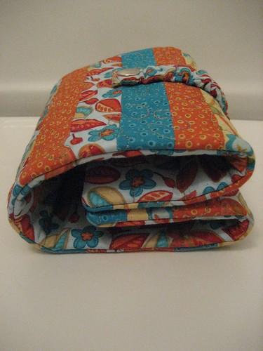 Folded up needle case